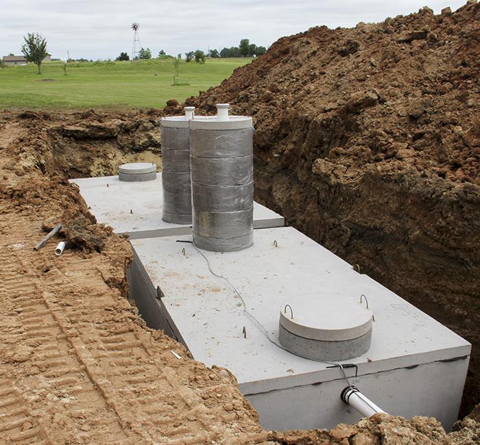 wykop pod szambo betonowe